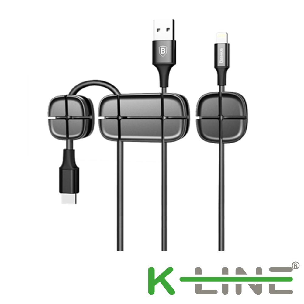 K-Line 十字型數據線固線夾 桌面整線器 線材理線器(三入組) @ Y!購物