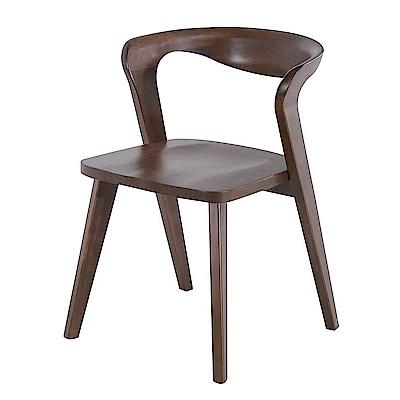 AS-蓋爾胡桃色餐椅-52x55x73cm