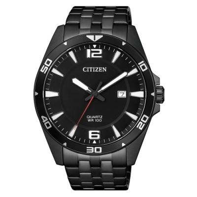 CITIZEN 星辰GENTS 時尚強化獨立風格男錶-黑(BI5055-51E)