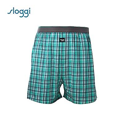 sloggi men 寬鬆系列Check 男士寬鬆平口褲 繽紛綠