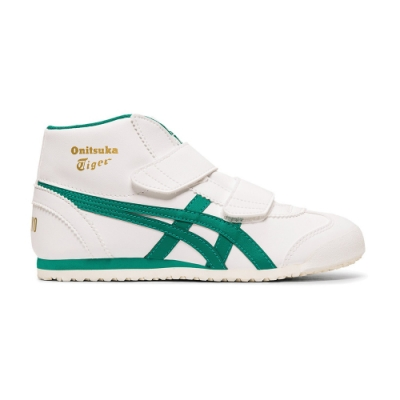 Onitsuka Tiger鬼塚虎-MEXICO MID RUNNER PS 中童鞋 (白底綠邊)-1184A031-102
