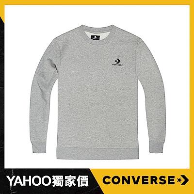 CONVERSE STAR CHEVRON EMB男 圓領套頭衫 灰