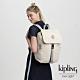 Kipling 冰雪象牙白插扣袋蓋後背包-WINTON product thumbnail 1