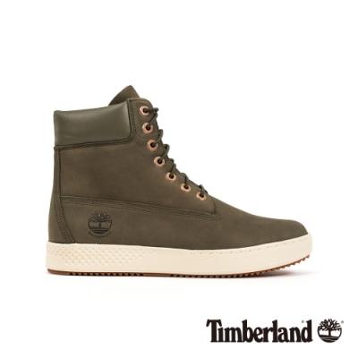 Timberland 男款深綠色磨砂革防水繫帶6吋運動靴|A254X