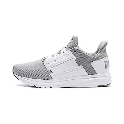 PUMA-EnzoStreetKnitInterest男性慢跑運動鞋-白色