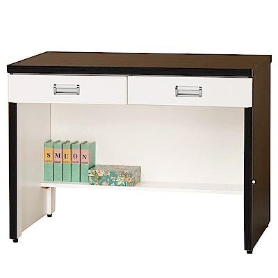 綠活居 凱沃時尚3尺雙色書桌/電腦桌-90x58.2x76.8cm-免組