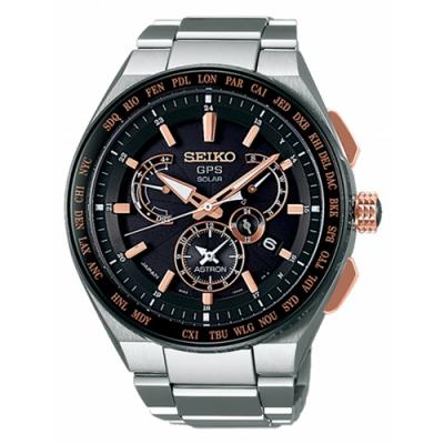 SEIKO 精工 Astron 8X53 雙時區GPS鈦金屬錶款(SBXB125J)