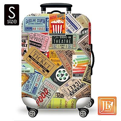 繽紛行李箱套-美式搖滾  S