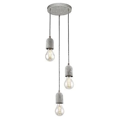 EGLO歐風燈飾 工業風三燈式造型吊燈(不含燈泡)