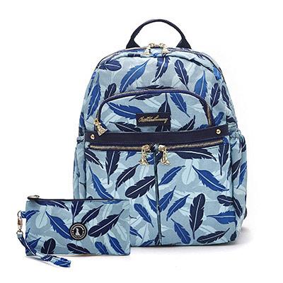 B.S.D.S冰山袋鼠-楓糖瑪芝x輕旅多口袋後背包+零錢包2件組-羽毛風