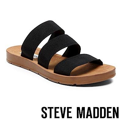 STEVE MADDEN-PASCALE 涼夏束帶平底涼鞋-黑色