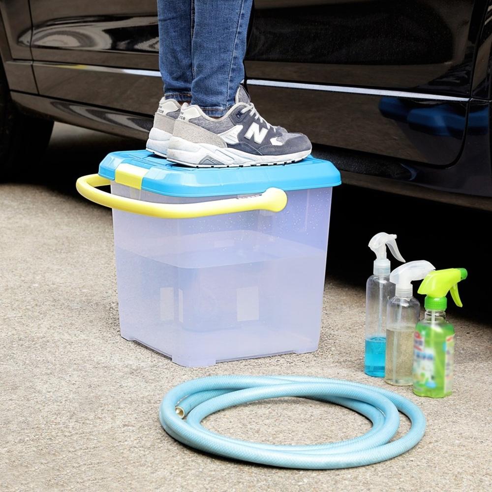 創意達人 多用途24L手提式水桶/收納箱/儲水桶-1入組
