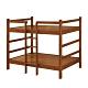 綠活居 曼丹  現代3.5尺實木單人雙層床台組合-113x201x160cm免組 product thumbnail 1