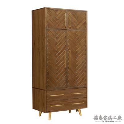 D&T 德泰傢俱 Pres 3尺雙門衣櫥90*60*210.5cm