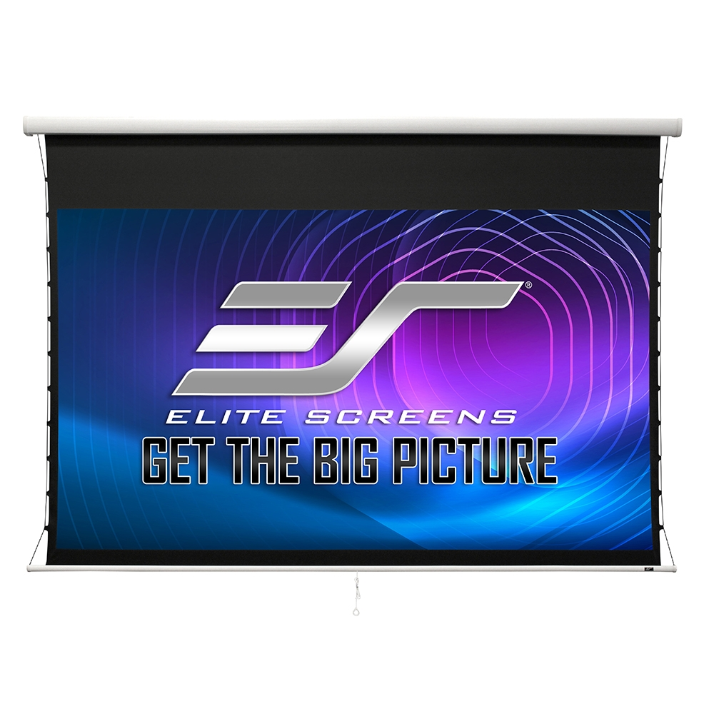 Elite Screens億立銀幕 100吋16:9 高級款手拉張力幕 isf認證啞白 上黑邊38CM MT100UWH-E15 黑色機殼