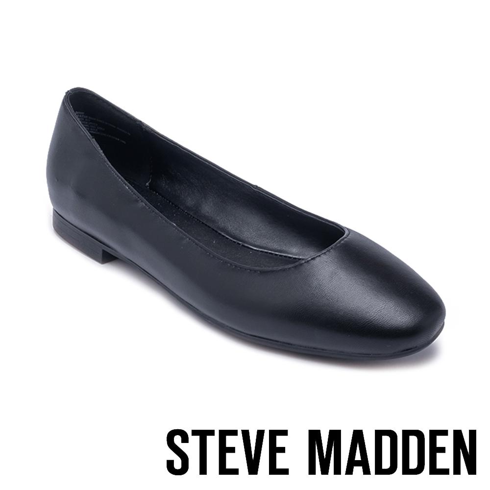 STEVE MADDEN-DANNI 清新百搭 素面平底娃娃鞋-黑色