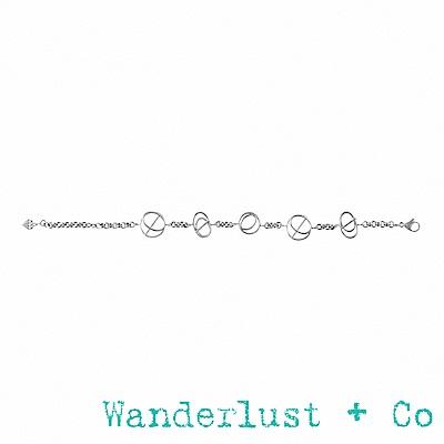 Wanderlust+Co Infusion系列  多螺旋銀色手鍊