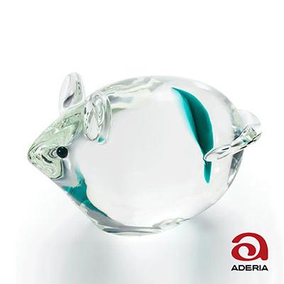 日本Aderia 手作玻璃幸運生肖擺飾-子(鼠)