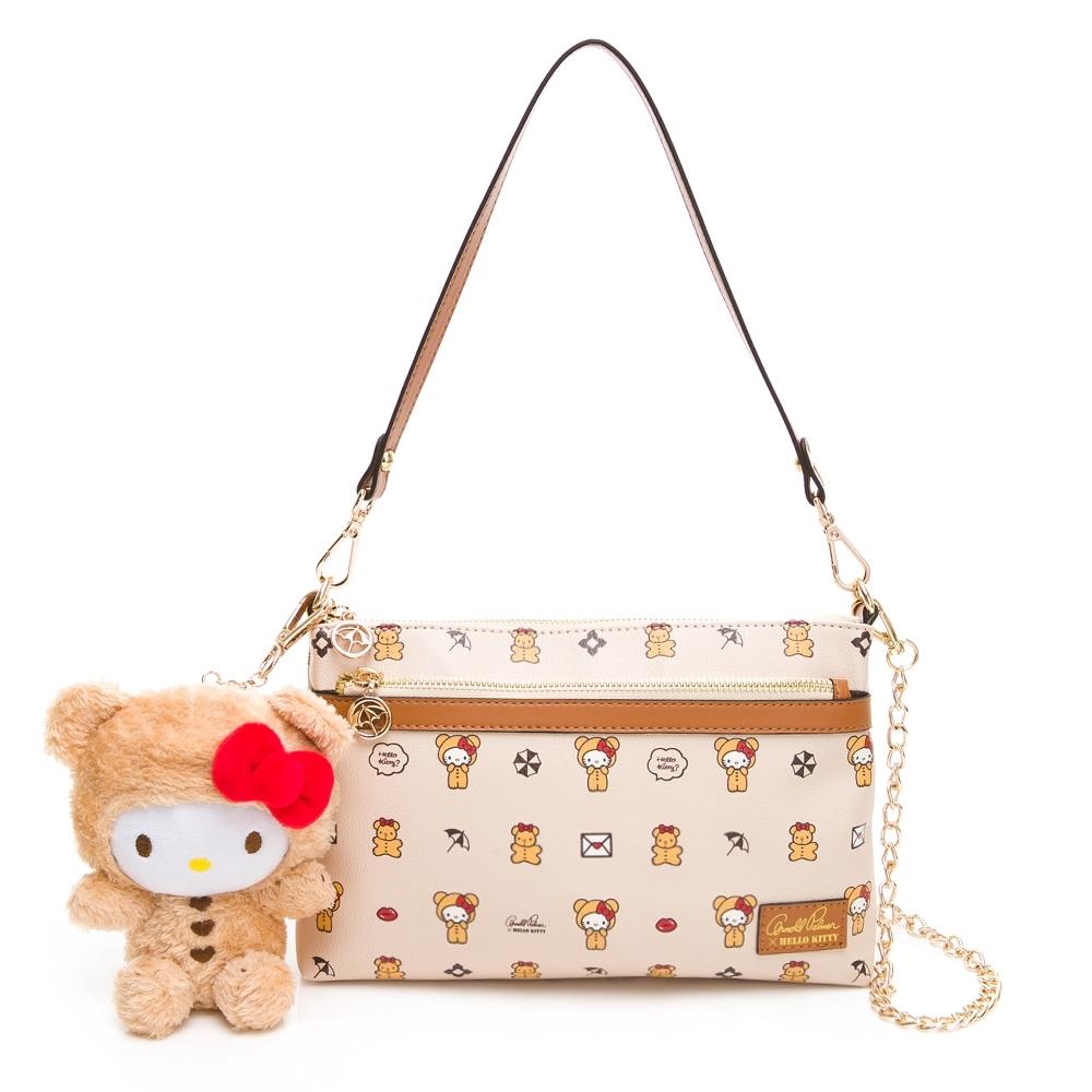 Hello Kitty聯名- 斜背包附長短背帶 SPOIL / 熊愛你系列-咖色