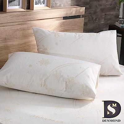 DESMOND 天絲超防水透氣枕頭保潔墊2入組 (防水床包/多項SGS認證)