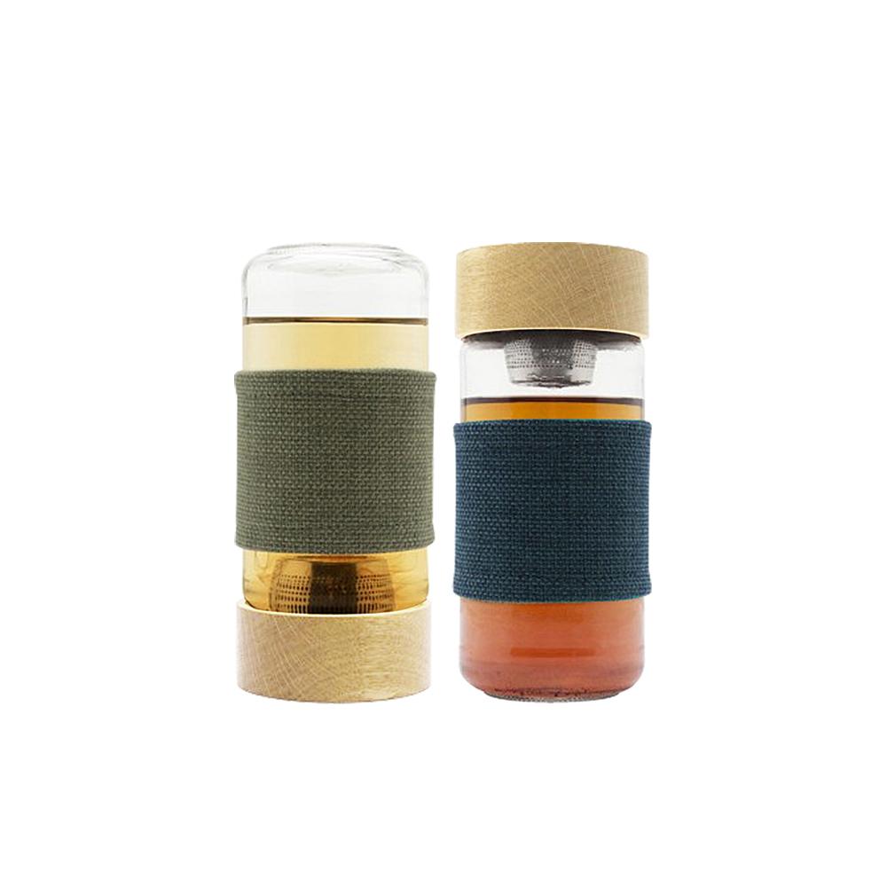 WOKY沃廚 北歐風磁力吸式耐熱濾茶/咖啡玻璃杯450ML(2色可選)