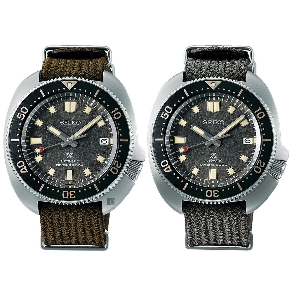SEIKO 精工 Prospex DIVER SCUBA 1970現代版 200米潛水機械錶 套錶(SPB237J1/6R35-00T0N)