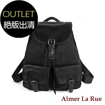 Aimer La Rue 後背包 真皮尼龍玩味印花系列(共二色)