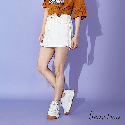 beartwo 假牛仔裙造型俏皮短褲(二色)