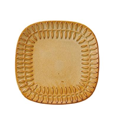 日本 MEISTER HAND FLOR 蛋糕盤葉-焦糖黃