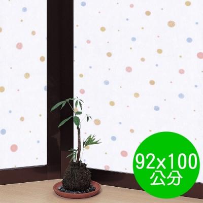 ★促銷★〔日本MEIWA〕抗UV靜電窗貼 (和風彩球)92x100公分
