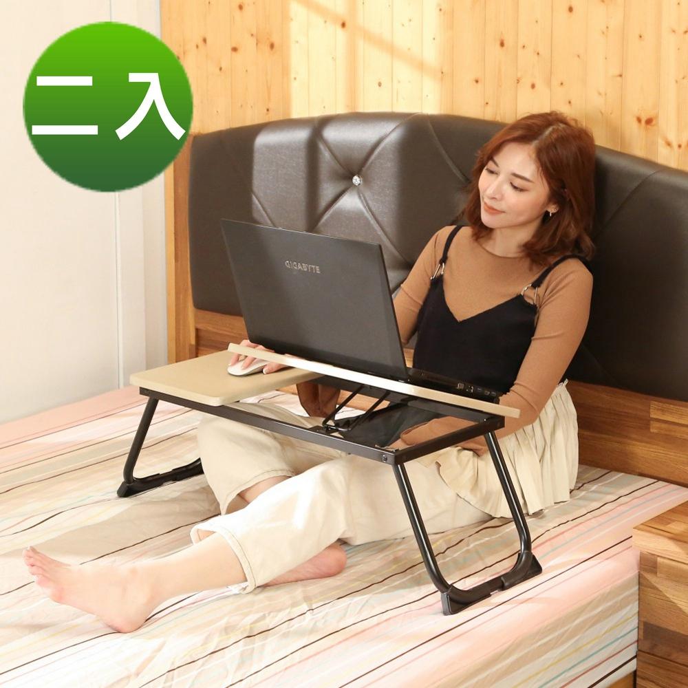 BuyJM床上型可折疊NB筆電桌/和室桌2入組寬65x30x27公分-免組