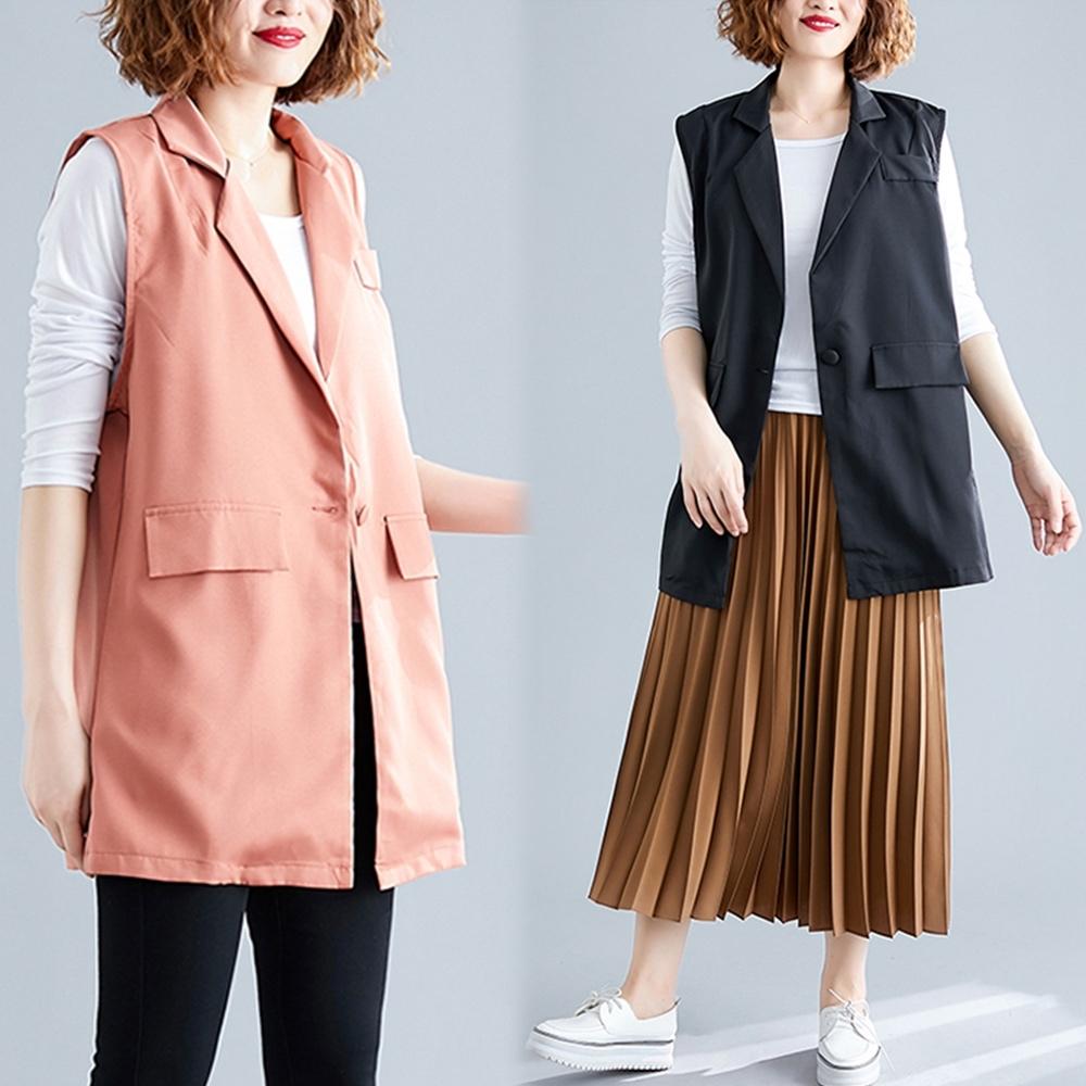 【韓國K.W.】(預購) 韓版時尚氣質背心外套