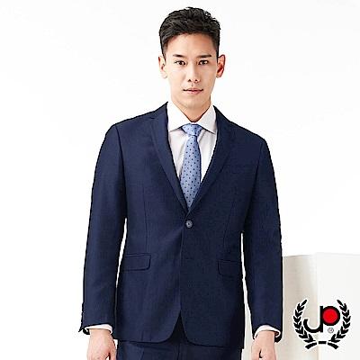 極品西服 品味展現經典窄款西裝外套_暗藍條(AS755-3G)