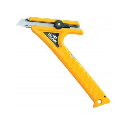 日本製造OLFA省力長桿大型美工刀長柄大型切割刀1B螺紋鎖LL型替刃18mm