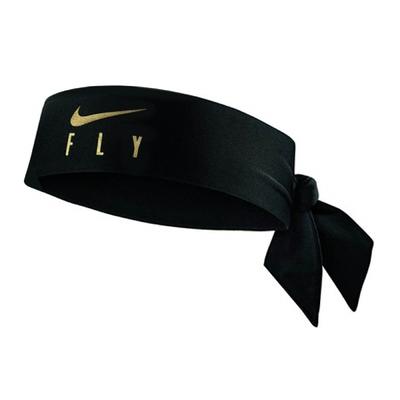 Nike 頭帶 Fly Icon Head Tie 男女款 Dri-FIT 吸濕排汗 忍者頭帶 基本款 黑金 N100354701-5OS