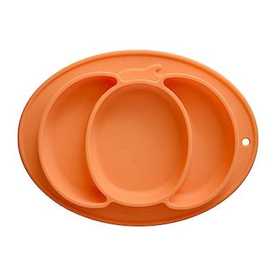 EXPECT兒童矽膠餐盤(南瓜款)-橘色