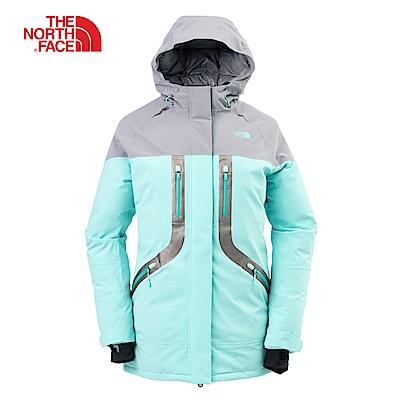 The North Face北面女款薄荷藍防水透氣羽絨外套|3LB16RU