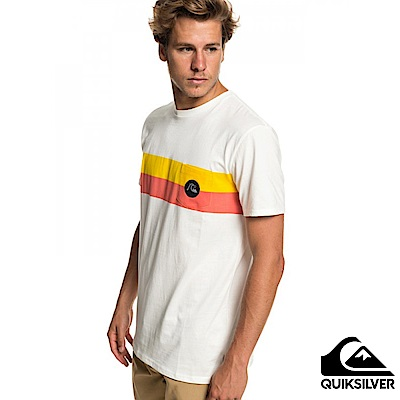 【Quiksilver】SEASON STRIPE POCKET TEE 純棉T恤 白