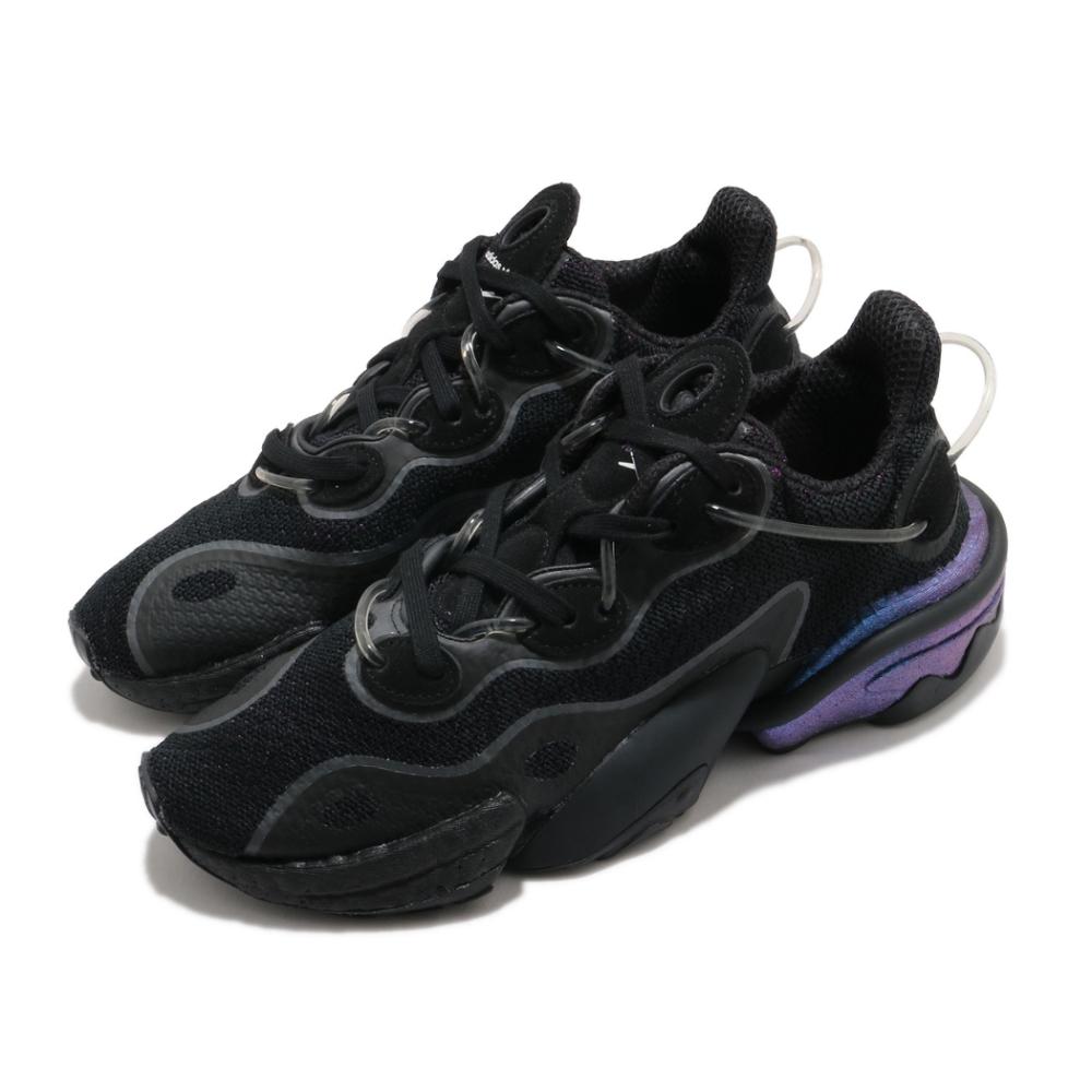 adidas 休閒鞋 Torsion X 厚底 男鞋 海外限定 愛迪達 三葉草 透明管 穿搭 黑 紫 FV4551