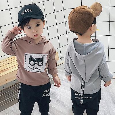小衣衫童裝 中小男童可愛蝙蝠俠連帽長袖上衣