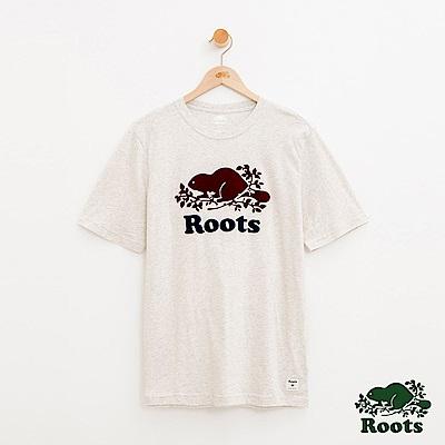 男裝Roots 撞色庫柏短袖T恤-白