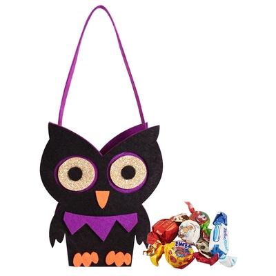 Diva Life 怪物造型絨布袋 (閃耀貓頭鷹)-巧克力糖果