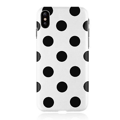 JTLEGEND iPhone X Polka 設計師款合成皮革背蓋