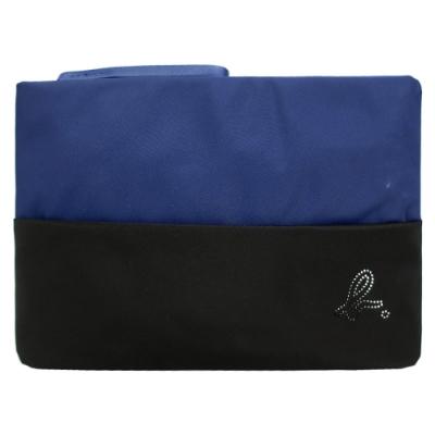 agnes b. 鏤空b雙色大手拿包-藍