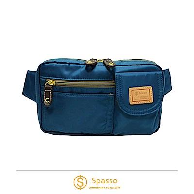 SPASSO 日本同步款 超輕量斜背包腰間包 藍色