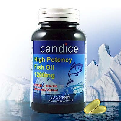 【Candice】康迪斯歐米加600魚油膠囊/超級Omega-3(90顆/瓶)