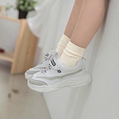 高含棉素面坑條彈力兒童糖果襪-OB大尺碼