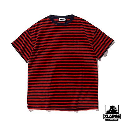XLARGE S/S PILE BORDER TEE短袖T恤-紅