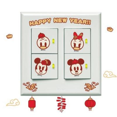 itaste小品味 BID097 迪士尼系列開關壁貼-納福
