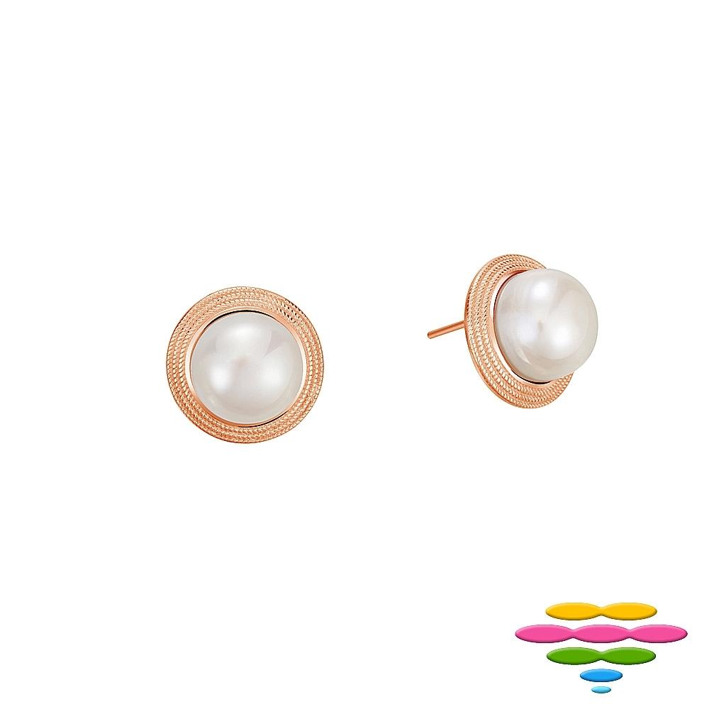 彩糖鑽工坊 11-12mm 淡水珍珠耳環 簡愛系列